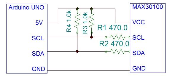 max30100 pulse oximeter schematic