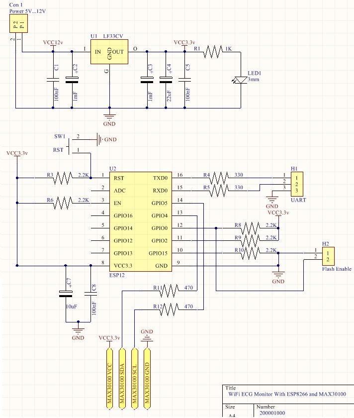 wifi ecg schematic